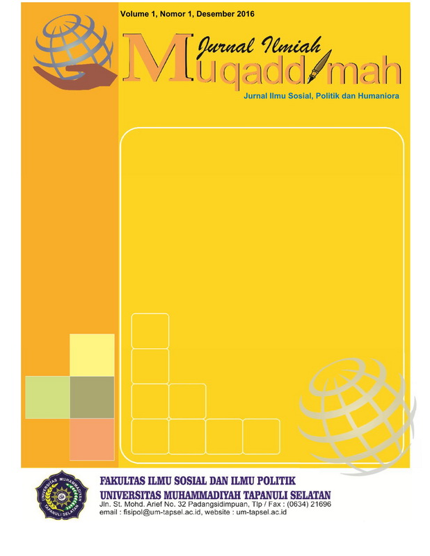 Jurnal Ilmiah Muqoddimah: Jurnal Ilmu Sosial, Politik dan Humaniora